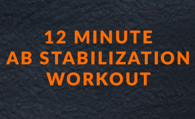 12 minute ab stabilization workout