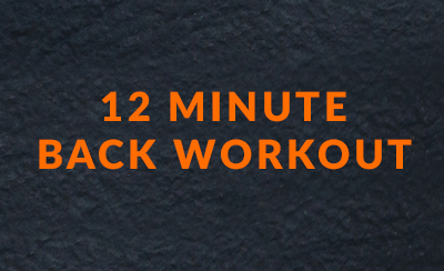 12 minute back workout