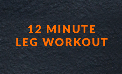 12 minute leg workout