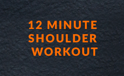 12 minute shoulder workout