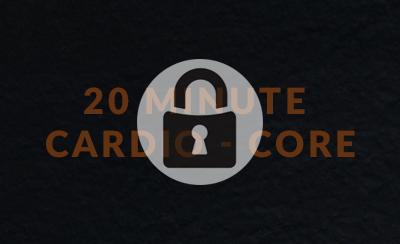 20 Minute Cardio Core