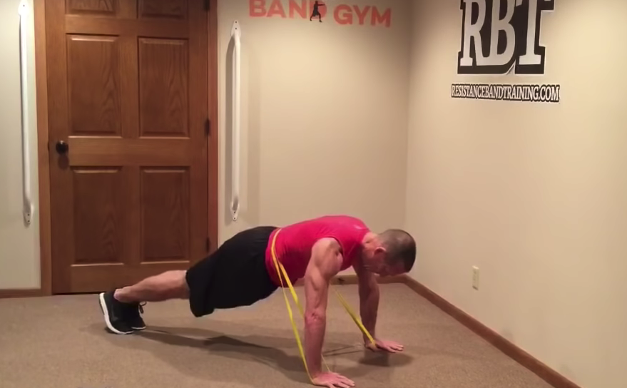14 Band Resisted Plank Variations
